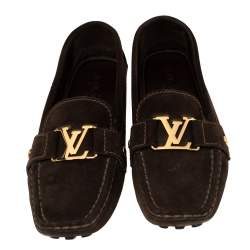 Louis Vuitton Brown Suede Monte Carlo Loafers Size 37