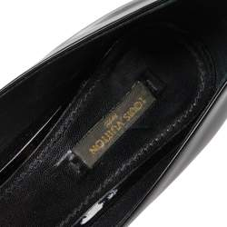 Louis Vuitton Black Patent Leather Oh Really! Peep Toe Pumps Size 38
