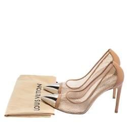 Louis Vuitton Beige PVC And Leather Urban Twist Pumps Size 37.5