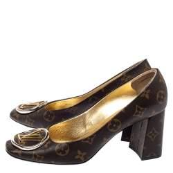 Louis Vuitton Brown Monogram Canvas Madeleine Pumps Size 39.5