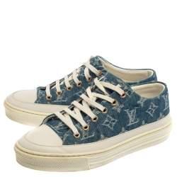 Louis Vuitton Blue/White Monogram Denim Stellar Low Top Sneakers Size 36.5