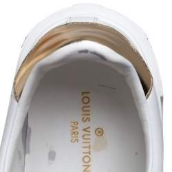 Louis Vuitton White Leather Time Out Sneakers Size 37