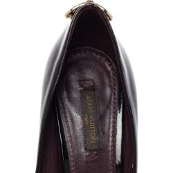 Louis Vuitton Black Patent Leather Oh Really! Peep Toe Platform Pumps Size 37