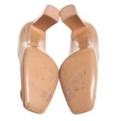 Louis Vuitton Beige Patent Leather Madeleine Pumps Size 41