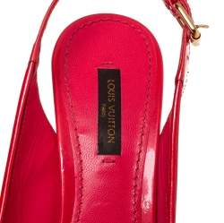 Louis Vuitton Red Monogram Vernis Pantheon Sandals Size 37