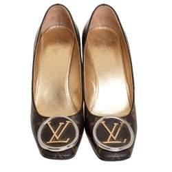 Louis Vuitton Brown Monogram Canvas Madeleine Pumps Size 37.5