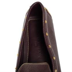 Louis Vuitton Burgundy Leather Lombok Slip On Loafers Size 40.5