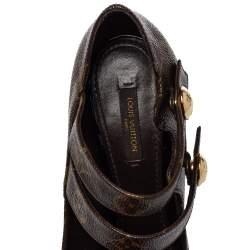 Louis Vuitton Brown/Beige Monogram Canvas Ritual Fetish Peep Toe Platform Pumps Size 38