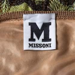 فستان إم ميزوني ماكسي كتف واحد تريكو لوريكس مزخرف أخضر مقاس وسط (ميديوم)