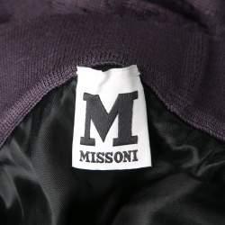 M Missoni Purple Patterned Knit Maxi Skirt M