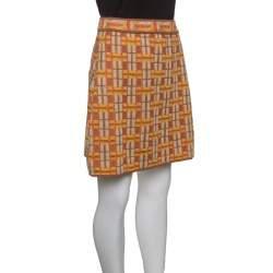 M Missoni Multicolor Lattice Knit A Line Mini Skirt M