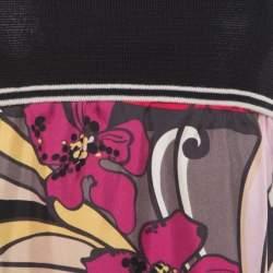 M Missoni Multicolor Floral Printed Sleeveless Dress S