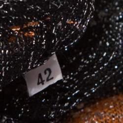 M Missoni Multicolor Lurex Chevron Patterned Knit Neck Tie Detail Dress M