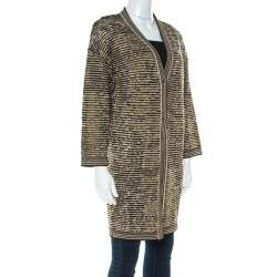 Missoni Multicolor Striped Lurex Knitted Long Cardigan XS