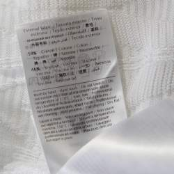 M Missoni White Crochet Knit Butterfly Sleeve Top M