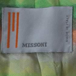 M Missoni Beige Silk Blend Boucle Knit Three Quarter Sleeve Jacket L