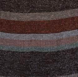 M Missoni Metallic Striped Knit Midi Skirt M