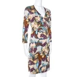M Missoni Multicolor Floral Print Silk Wrap Dress M