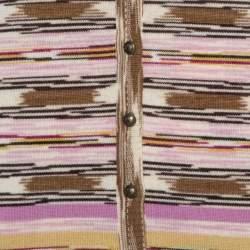 M Missoni Multicolor Wool Stripe Knit Tank Top and Cardigan Set L