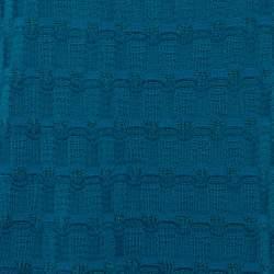M Missoni Teal Wool Knit Midi Dress L