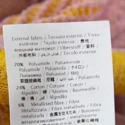 M Missoni Pink & Yellow Lurex Knit Crossback Detail Dress L