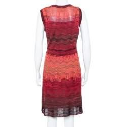 M Missoni Saffron Wave Knit Sleeveless Dress L
