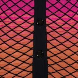 M Missoni Ombre Pink Criss Cross Knit V-Neck Cardigan S