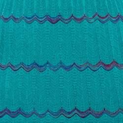M Missoni Blue Knit Sleeveless Maxi Dress S