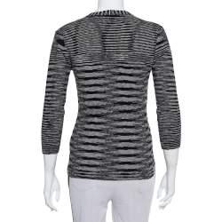 M Missoni Monochrome Knit Button Front Cardigan M