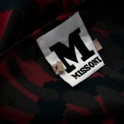 M Missoni Multicolor Printed Silk Oversized Top S