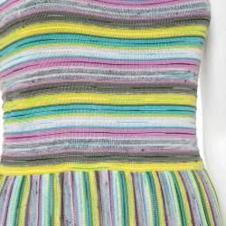 M Missoni Multicolor Knit Sleeveless Midi Dress M