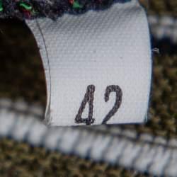 M Missoni Multicolor Knit Open Front Cardigan M