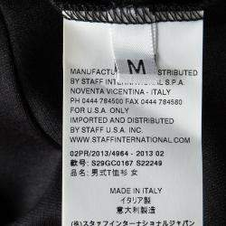 Maison Martin Margiela Black Contrast Print Long sleeve Tunic M