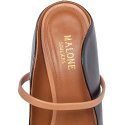 Malone Souliers Black Leather Maureen Pointed Toe Mules Size 39