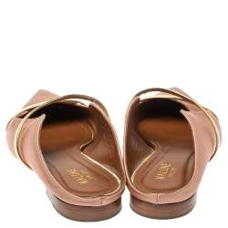 Malone Souliers Beige/Gold Satin Maureen Pointed Toe Flats Size 39.5