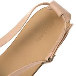 Manolo Blahnik Beige Doarada Crystal Embellished Flat Sandals Size 39.5