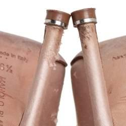 Manolo Blahnik Beige Satin Hangisi Embellished Pointed Toe Pumps Size 36.5