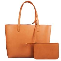حقيبة يد منصور غافرييل كبيرة جلد وردية / كاميلو