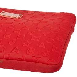 Marc by Marc Jacobs Red Polyester Dreamy Logo Laptop Case