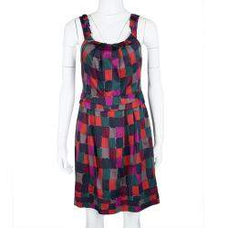 Marc by Marc Jacobs Multicolor Printed Cotton Tumbling Blocks Dress S