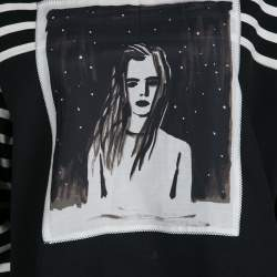 Marc by Marc Jacobs Monochrome Striped  Dreamy Rhea Print Sweatshirt L