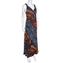 Marc by Marc Jacob Multicolor Paisley Printed Sleeveless Maxi Dress M