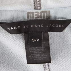 Marc by Marc Jacobs Powder Blue Contrast Top Stitch Detail Hooded Jacket S