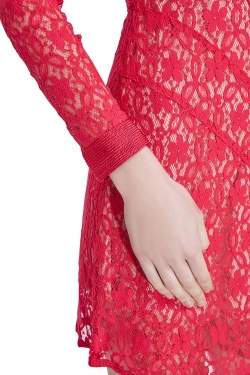 Marc by Marc Jacobs Strawberry Daiquiri Floral Lace Paneled Leila Dress S
