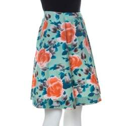 Marc by Marc Jacobs Multicolor Rose Printed Cotton Poplin Jerrie Skirt S