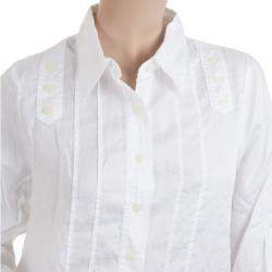 Marc by Marc Jacobs White Button Up Blouse M