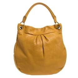 Marc by Marc Jacobs Yellow Leather Classic Q Hillier Hobo