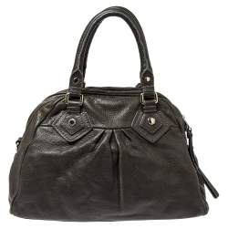 Marc by Marc Jacobs Dark Moss Green Leather Classic Q Baby Aidan Satchel