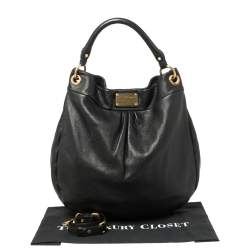 Marc by Marc Jacobs Black Leather Classic Q Hillier Hobo