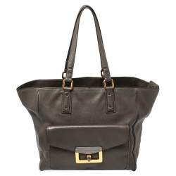 Marc by Marc Jacobs Grey Leather Bianca Hayley Tote